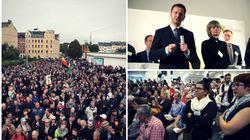 Sachsengespräch und rechte Demo: So verlief der Abend in Chemnitz