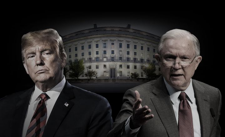 President Donald Trump and Attorney General Jeff Sessions have been at loggerheads for months on one key issue.