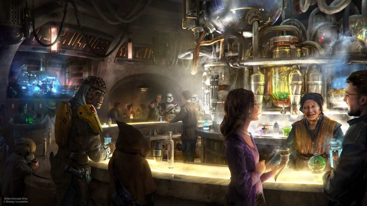 The cantina at Disneys upcoming Star Wars themed area