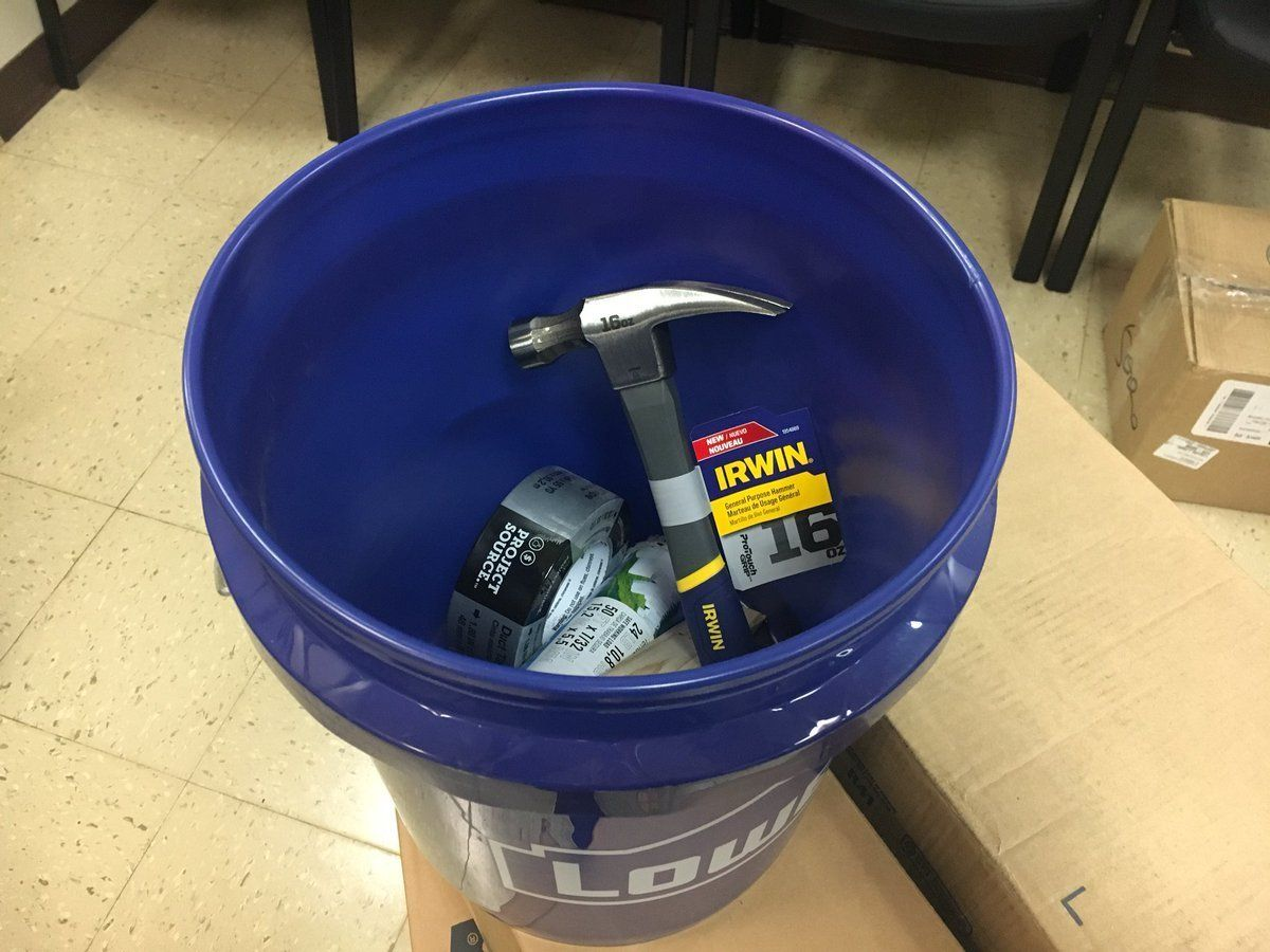 Brockton school bucket