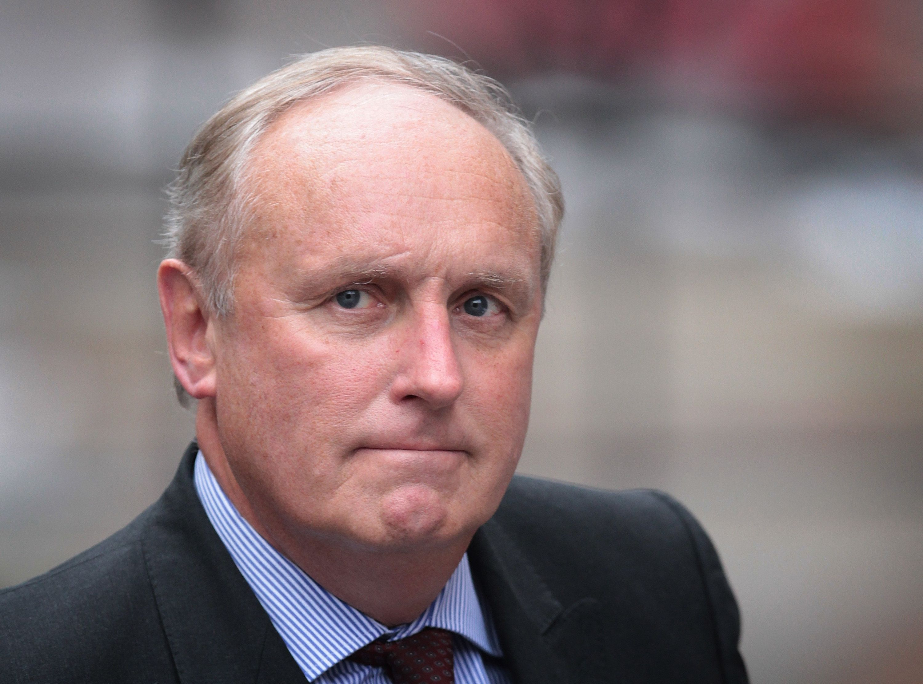 Paul Dacre arriving to give evidence at the Leveson Inquiry in