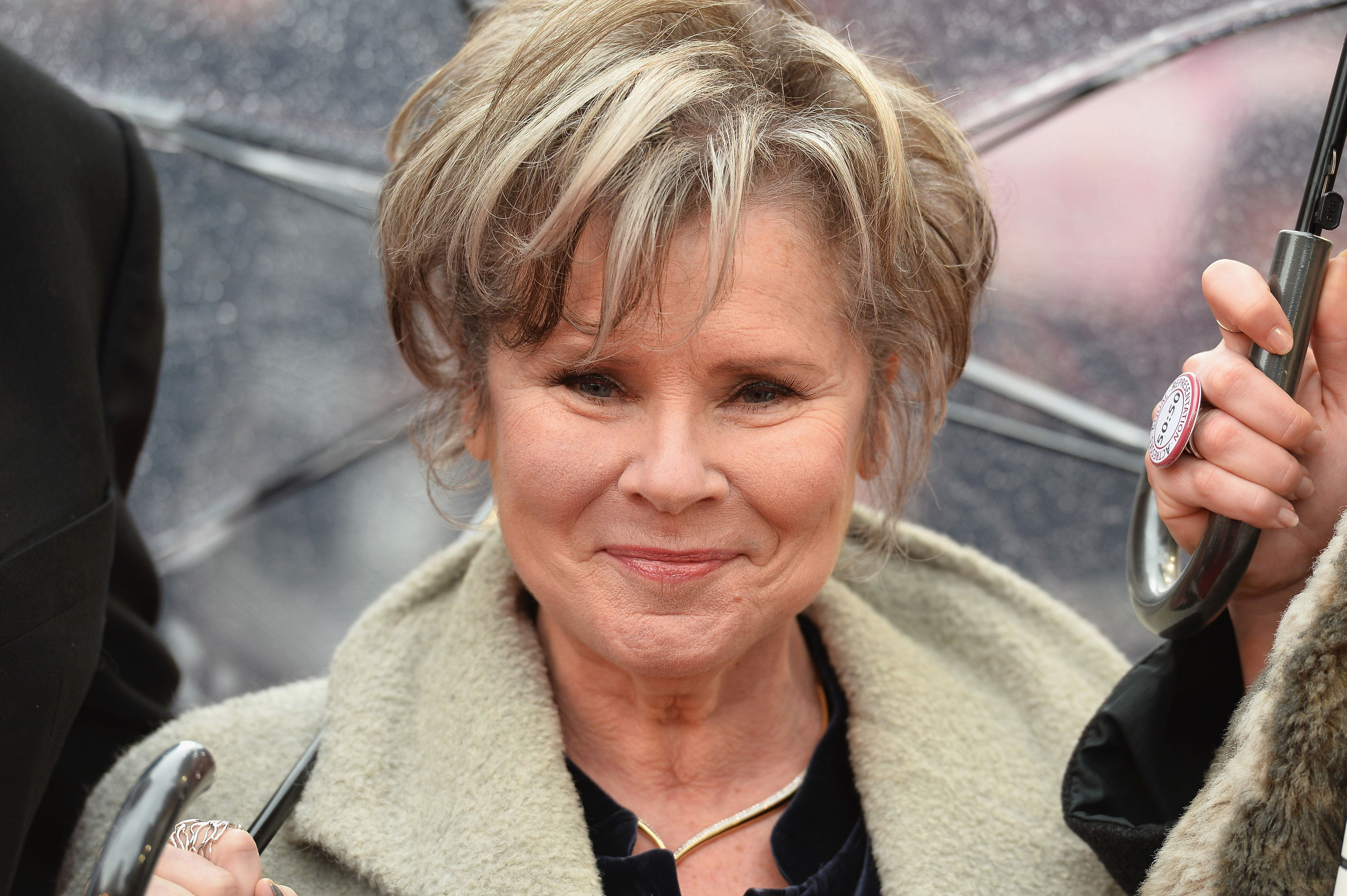 """Imelda Staunton, pictured in April, is an impressive addition to the """"Downton Abbey"""" movie cast."""