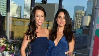 TORONTO, ON - MAY 31:  Jessica Mulroney and actress Meghan Markle attends the Instagram Dinner held at the MARS Discovery District on May 31, 2016 in Toronto, Canada.  (Photo by George Pimentel/WireImage)