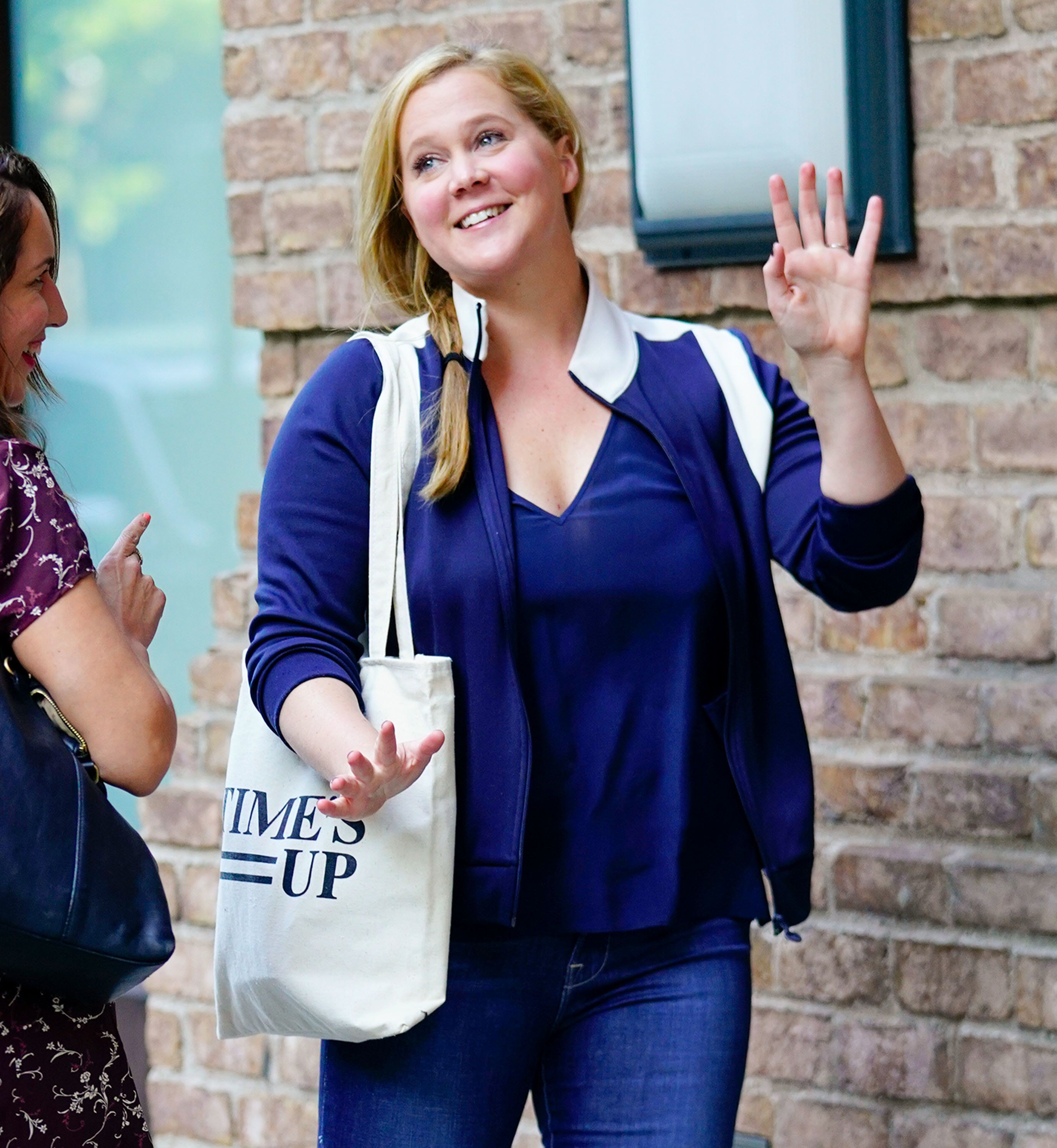 NEW YORK, NY - JUNE 11:  Amy Schumer does some funny moves on June 11, 2018 in New York City.  (Photo by Gotham/GC Images)