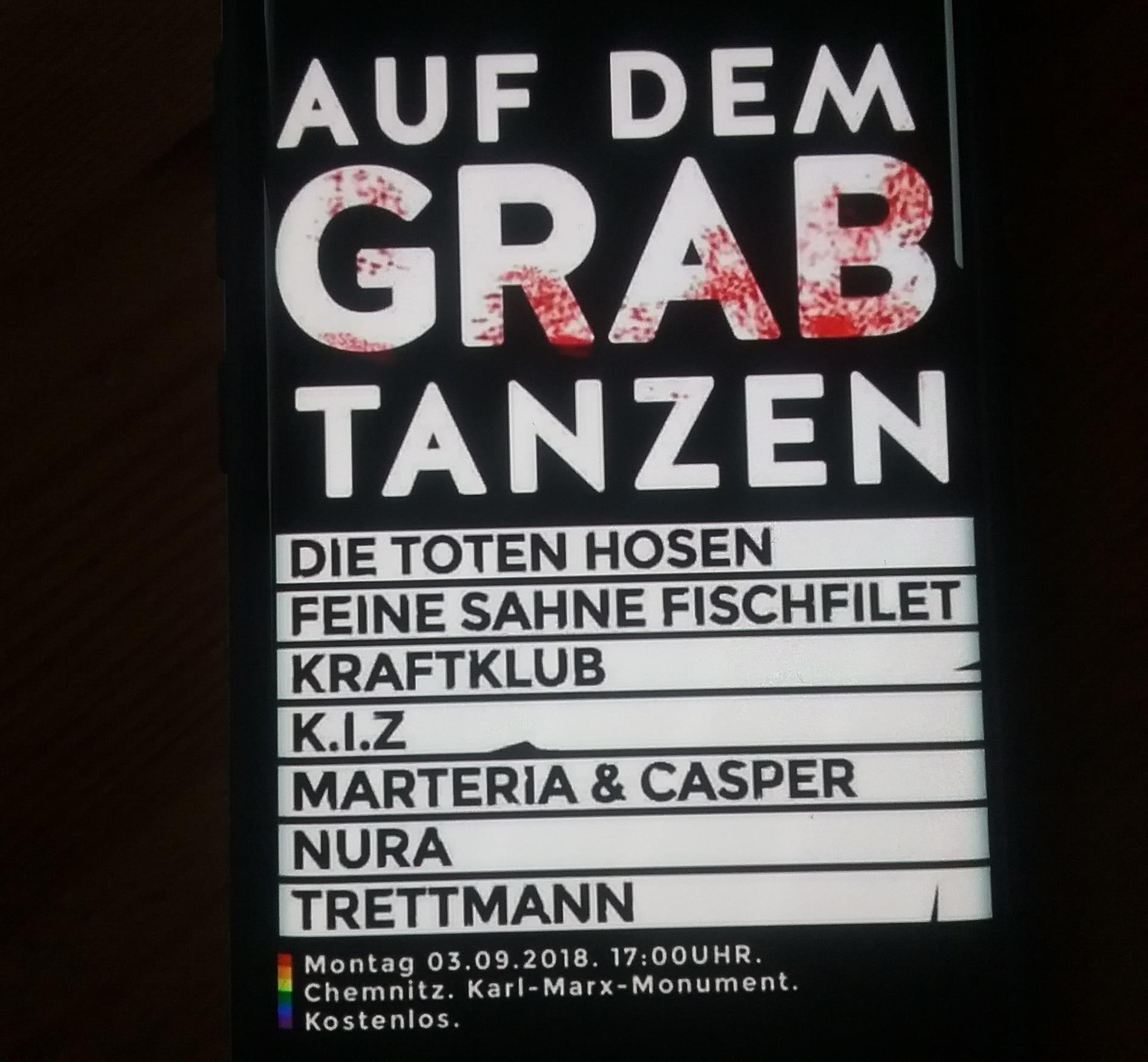 Chemnitz: Rechtsradikale hetzen mit gefälschtem Plakat gegen Konzert