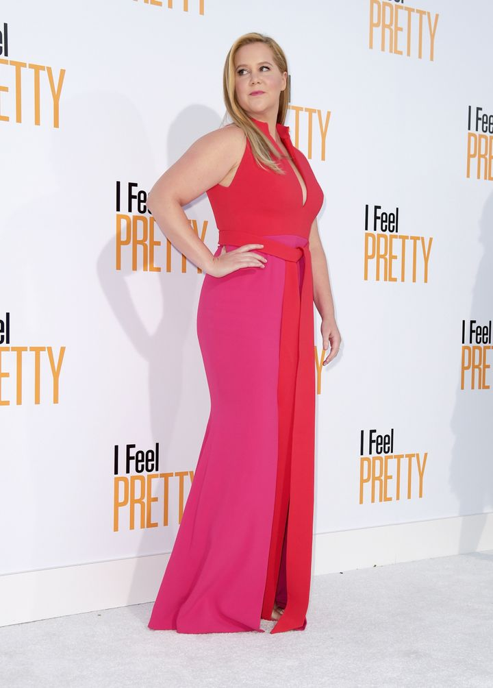 "Schumer attends the premiere of STX Films' ""I Feel Pretty"" in April. The comedian has long been a beacon of body positiv"