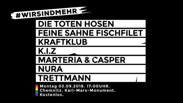 Konzert gegen Rechts in Chemnitz: Rechte hetzen mit
