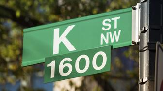 K street is the traditional home of political lobbyists in Washington DC USA