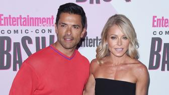 SAN DIEGO, CA - JULY 21:  Mark Consuelos and Kelly Ripa attend the annual Entertainment Weekly Comic-Con Celebration at Float at Hard Rock Hotel San Diego on July 21, 2018 in San Diego, California.  (Photo by C Flanigan/FilmMagic)