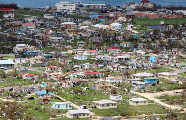 Codrington on the island of Barbuda on Sept. 22, 2017, more than two weeks after Hurricane Irma.