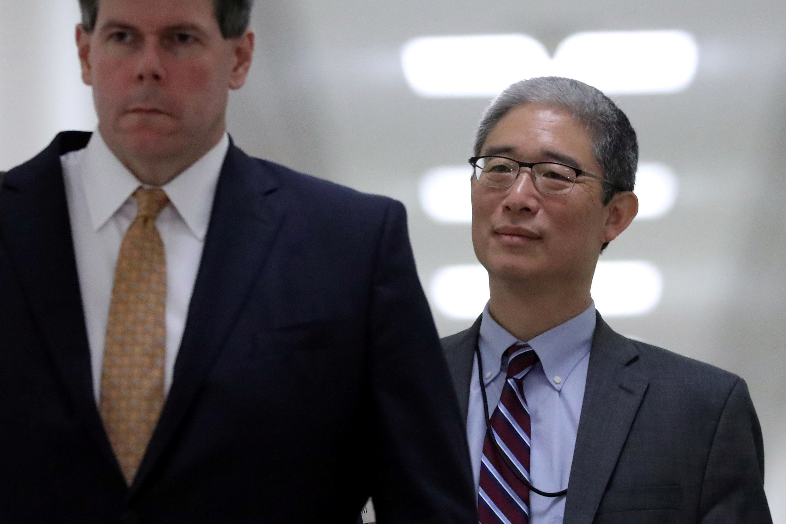 Former associate deputy U.S. attorney general Bruce Ohr arrives to testify behind closed doors before the House Judiciary and