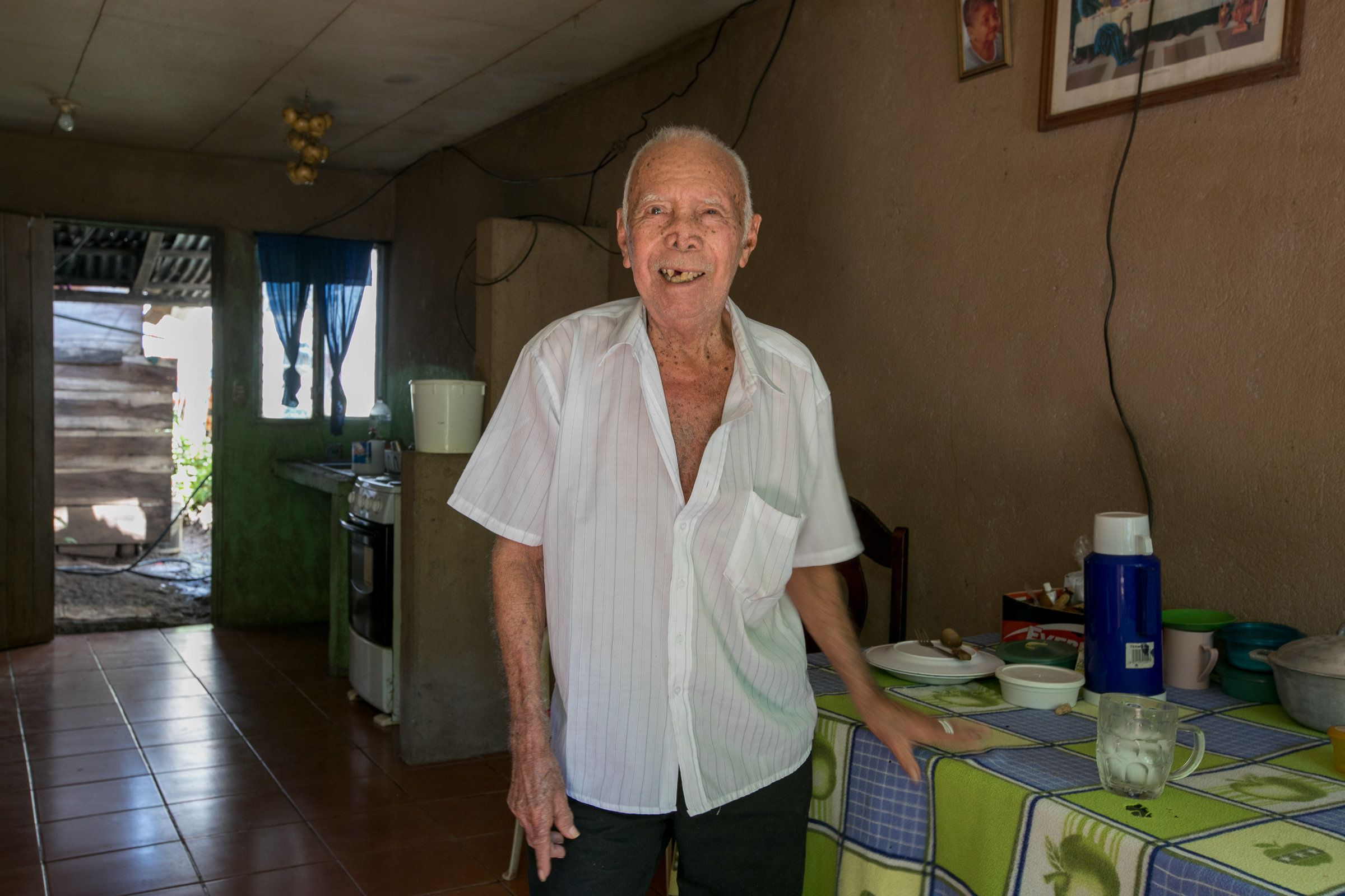 Francisco Gomez, turned 100 years-old on April 2018. Photographed at his house in Nicoya, Guancaste, Costa Rica.