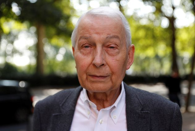 Labour MP Frank Field, who has just resigned his party whip, is seen on his way to
