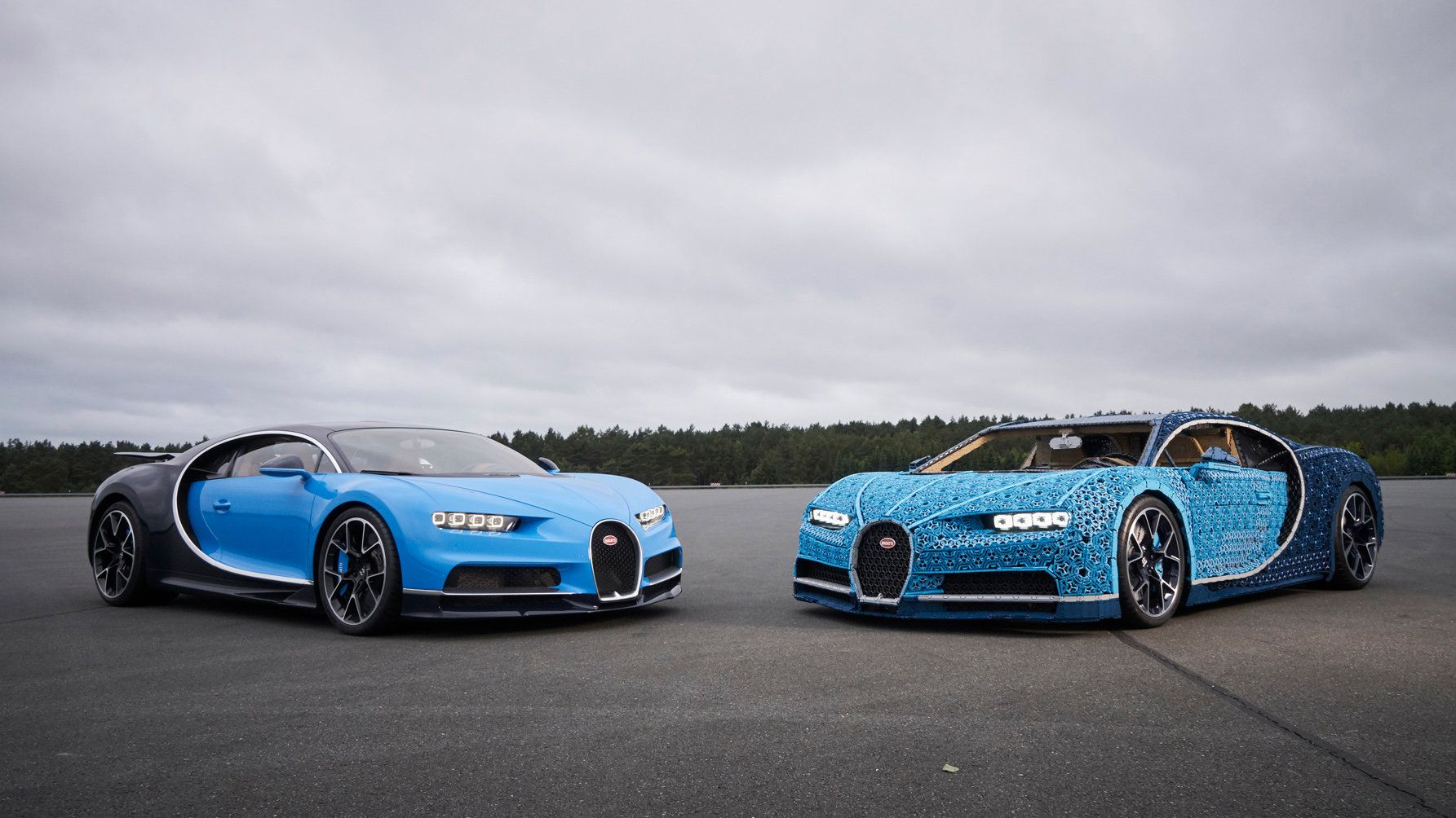 Bugatti Chiron in a million pieces