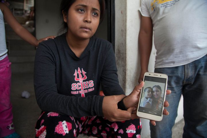Elsa Johana Ortiz, 25, at her home in Palencia, Guatemala, on June 23. She says she was deported from the U.S. and has been&n