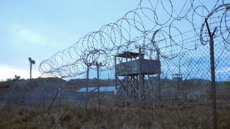 An abandoned camp and tower at the US Naval Base in Guantanamo Bay, Cuba on August 8, 2013.  AFP PHOTO/CHANTAL VALERY        (Photo credit should read CHANTAL VALERY/AFP/Getty Images)