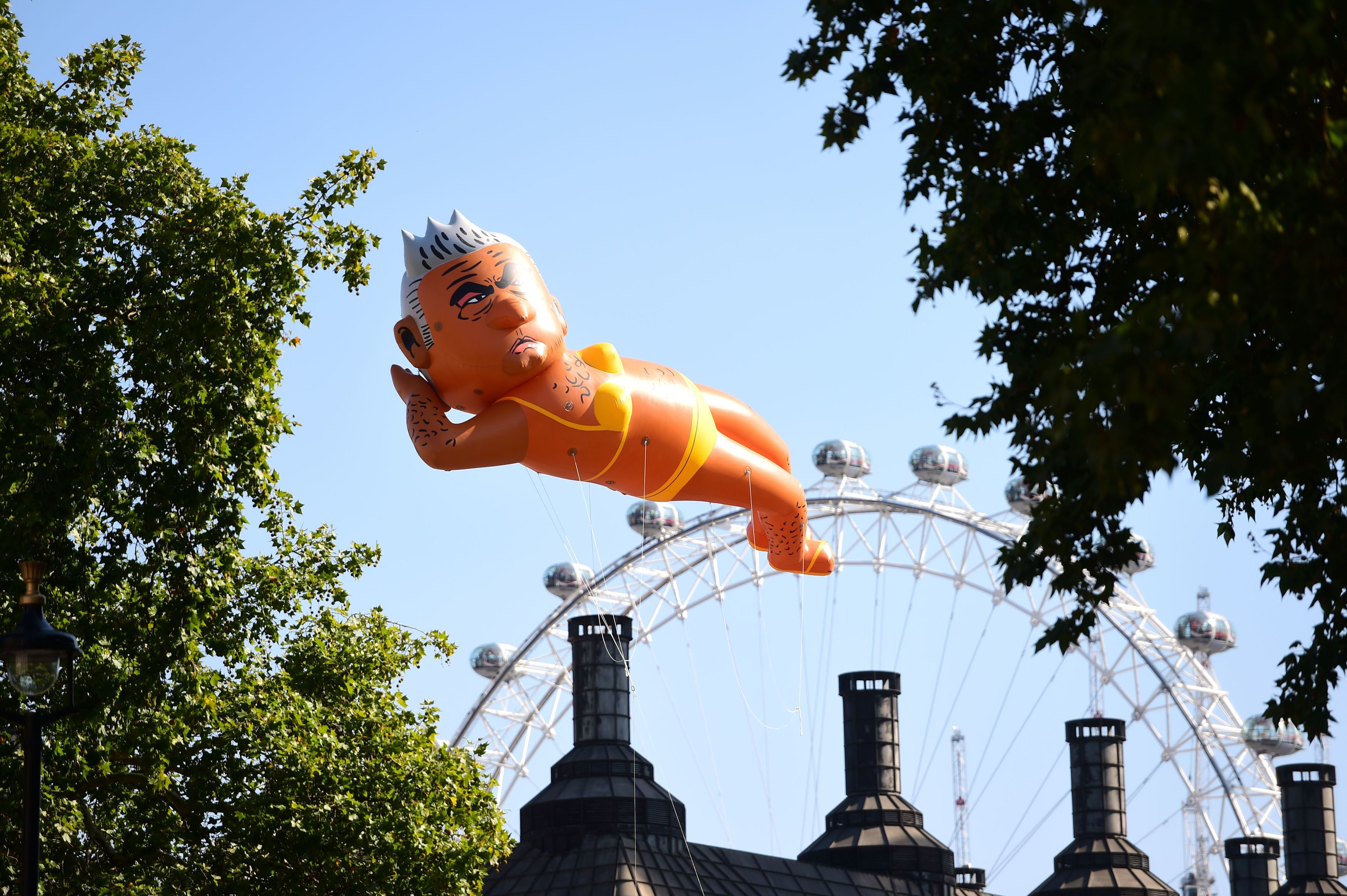 Sadiq Khan Blimp Takes To The Skies As Crowd Cheers For Mayor 'To Go'