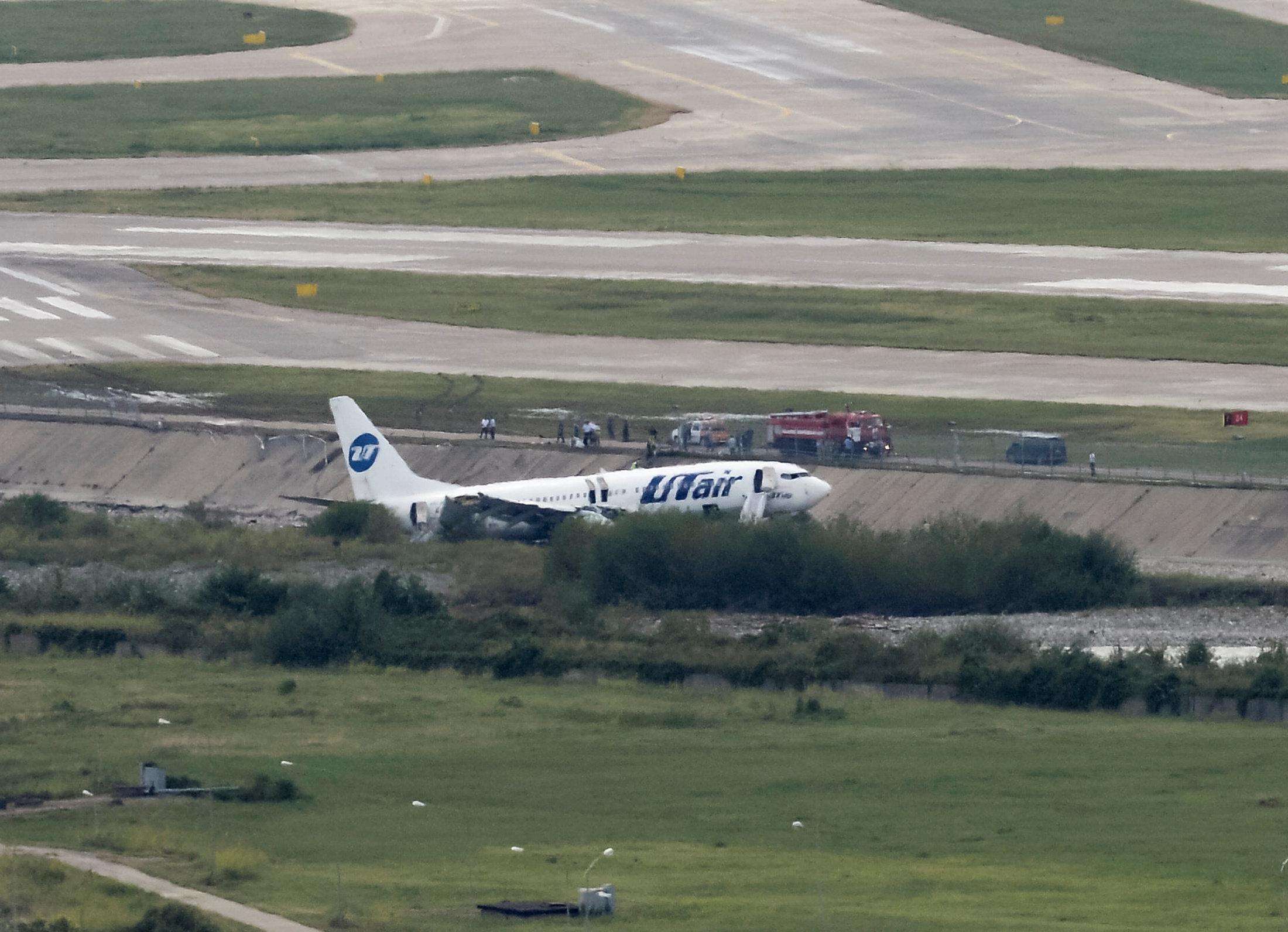 Utair Boeing 737-800 passenger plane is seen off an airport runway in Sochi, Russia September 1, 2018.  REUTERS/Stringer