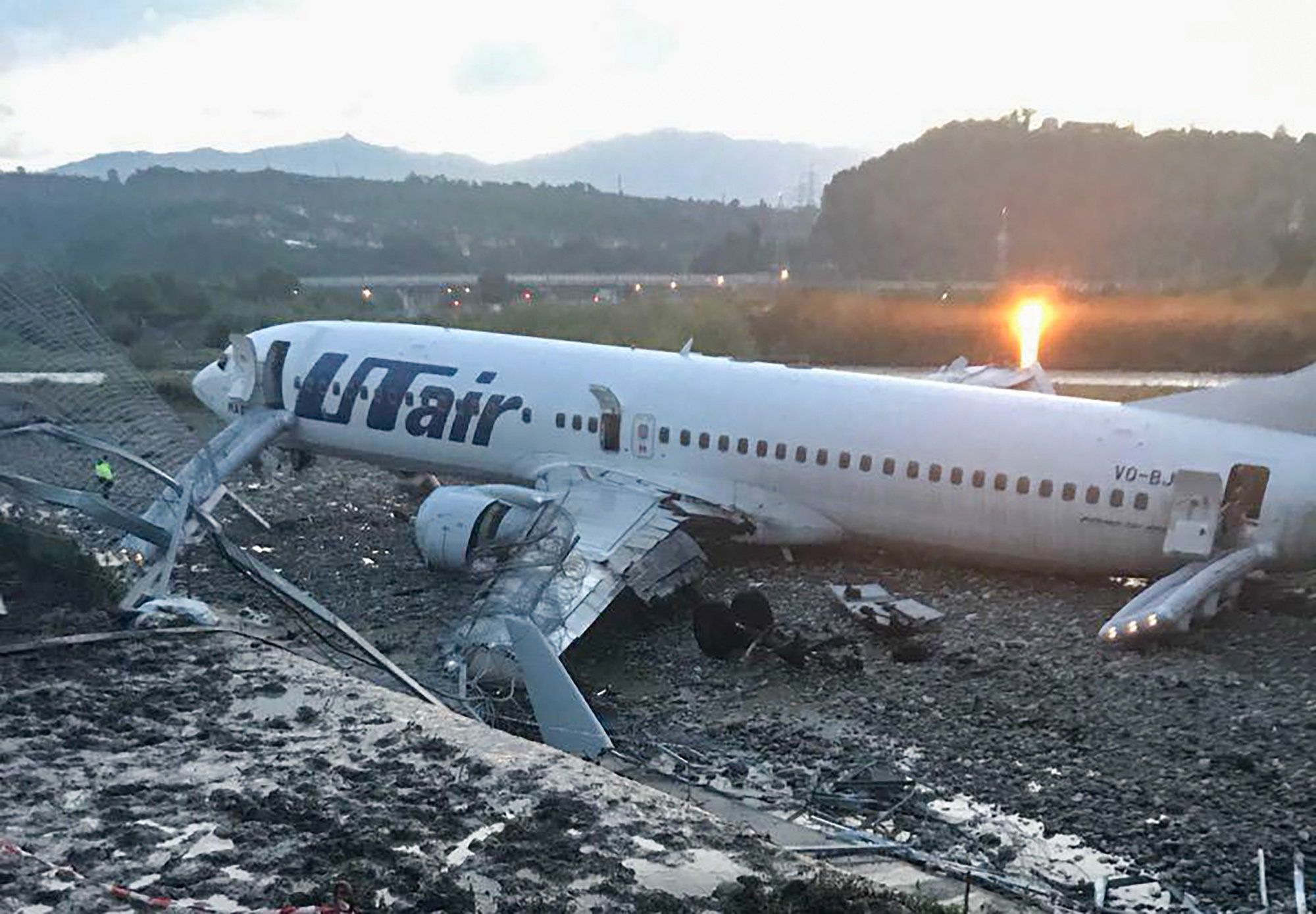 Russian Airport Worker Dies And 18 Injured After Plane Careers Off Runway At Sochi