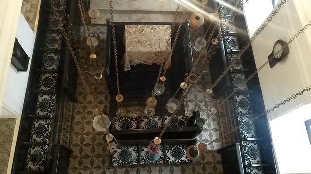 La synagogue Simon Attia vue d'en haut, centre Bayt Al Dakira, Essaouira, le 30 août