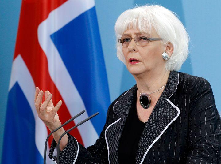 Iceland's then-Prime Minister Jóhanna Sigur<i>ð</i>ardottir in 2011.