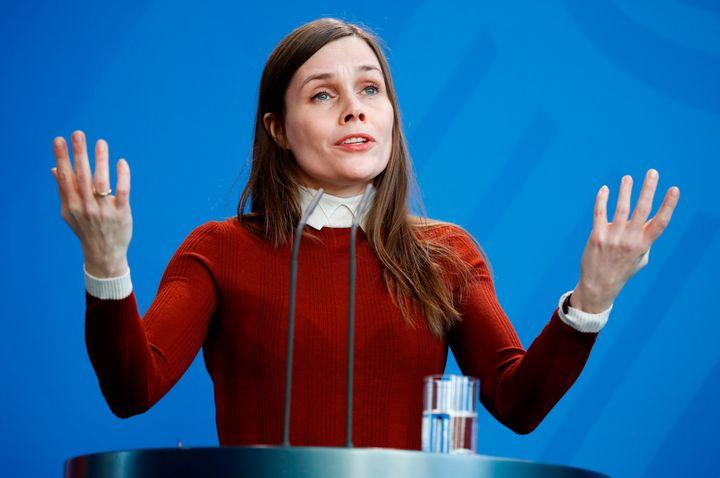 Iceland's Prime Minister Katrin Jakobsdóttir in March.