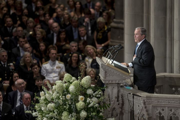Bush memorialized the late Senator as a great friend and leader who was honest, courageous and not afraid to speak out a