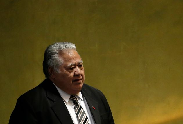 Samoan Prime Minister Tuilaepa Sailele criticized world leaders who don't believe in climate change in...