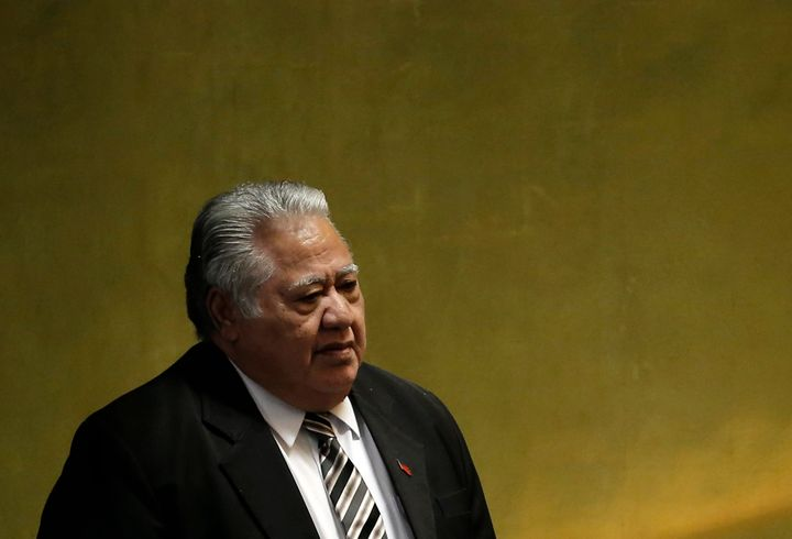 Samoan Prime Minister Tuilaepa Sailele criticized world leaders who don't believe in climate change in a recent speech.