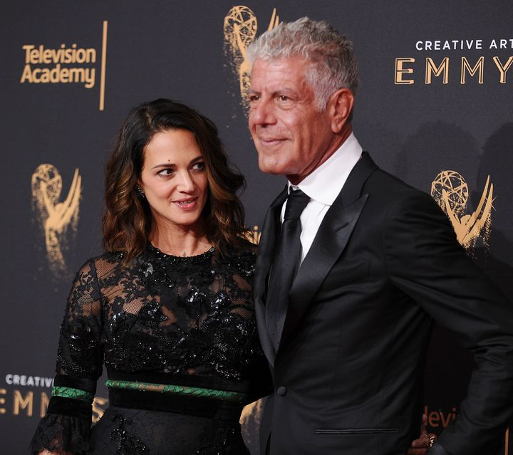 Asia Argento had been dating Anthony Bourdain when he died by suicide in June.