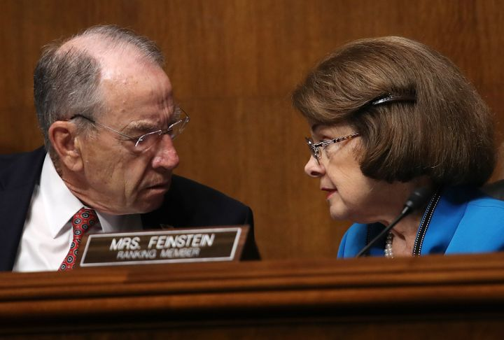 Sens. Chuck Grassley (R-Iowa) and Dianne Feinstein (D-Calif.) are the chairman and the ranking member, respectively, of the J