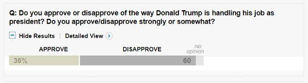탄핵을 지지하는 미국인이 절반에
