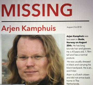 Arjen Kamphuis missing poster