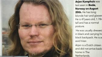 Arjen Kamphuis missing poster