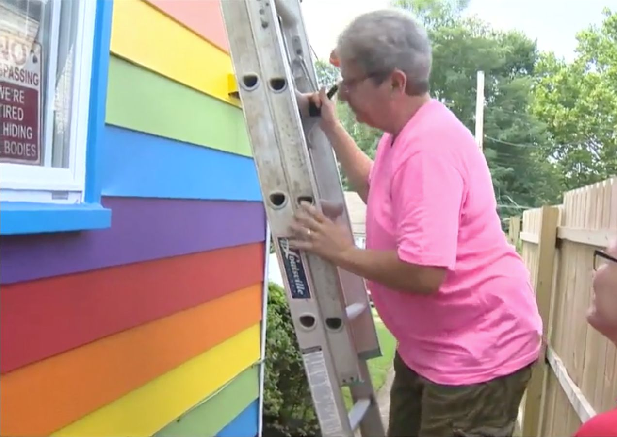 The couple plan to extend the paint job to the entire
