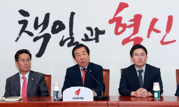 김성태가 문재인 대통령을 학생에 비유하며 한