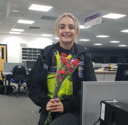 Police Officer Receives Thank You Flowers From Suicidal Man She Talked Down From Bridge