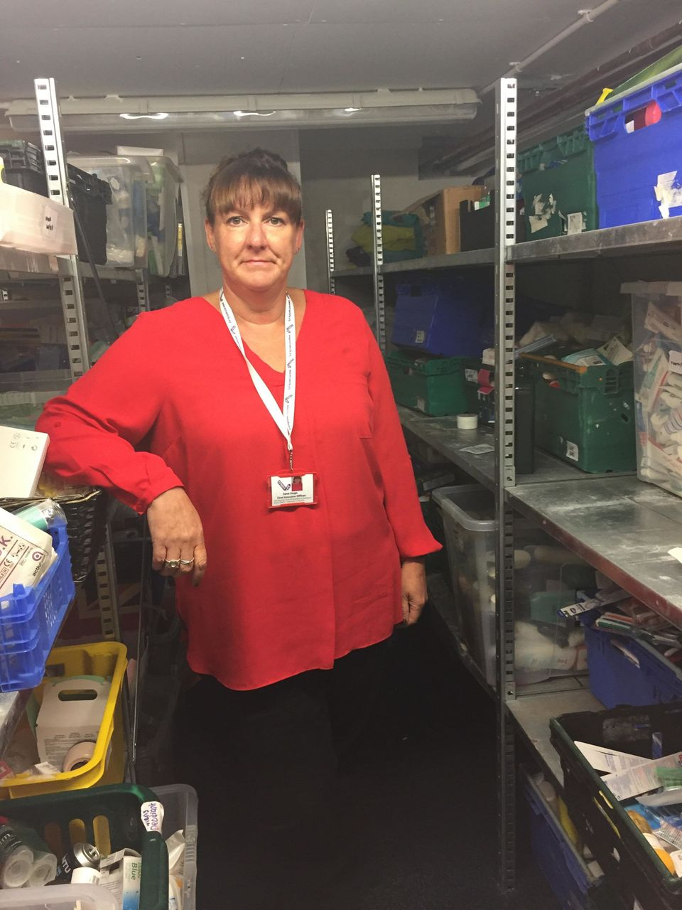 Jane Hugo of Streetlife in the charity's foodbank. Demand for their services is
