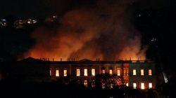 Fire Rips Through Brazil's National