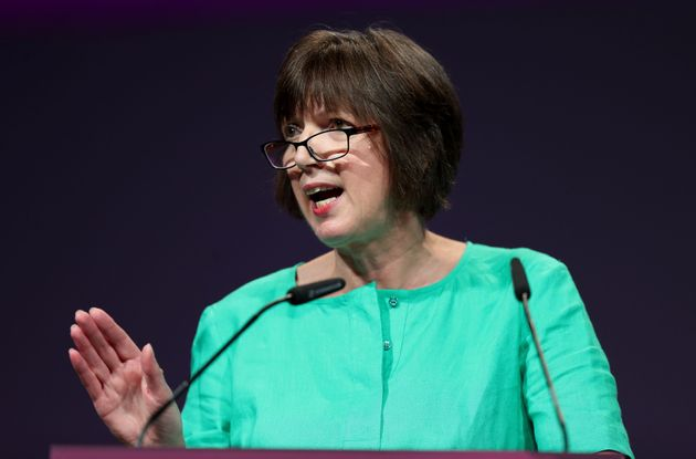 TUC General Secretary Frances O'Grady speaking at the TUC conference at the Brighton Centre in