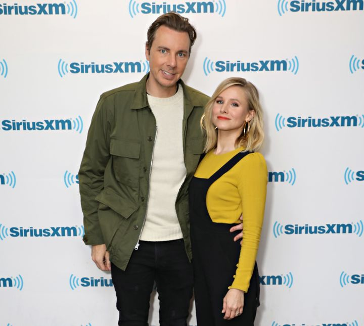 Dax Shepard and Kristen Bell at the SiriusXM Studios on March 22, 2017.
