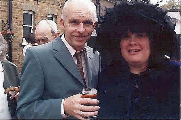 Andrew Lane with his wife