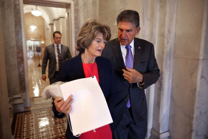 Sens. Lisa Murkowski and Joe Manchin are both seen as swing votes on the Kavanaugh nomination. But only Manchin, a red-s