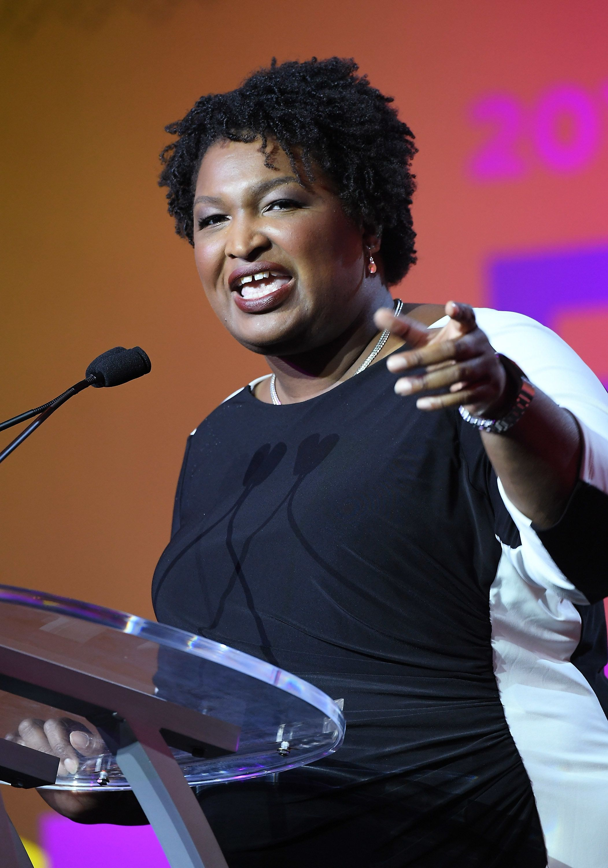 NEW ORLEANS, LA - JULY 07:  Stacey Abrams speaks onstage during the 2018 Essence Festival presented by Coca-Cola at Ernest N. Morial Convention Center on July 7, 2018 in New Orleans, Louisiana.  (Photo by Paras Griffin/Getty Images for Essence)