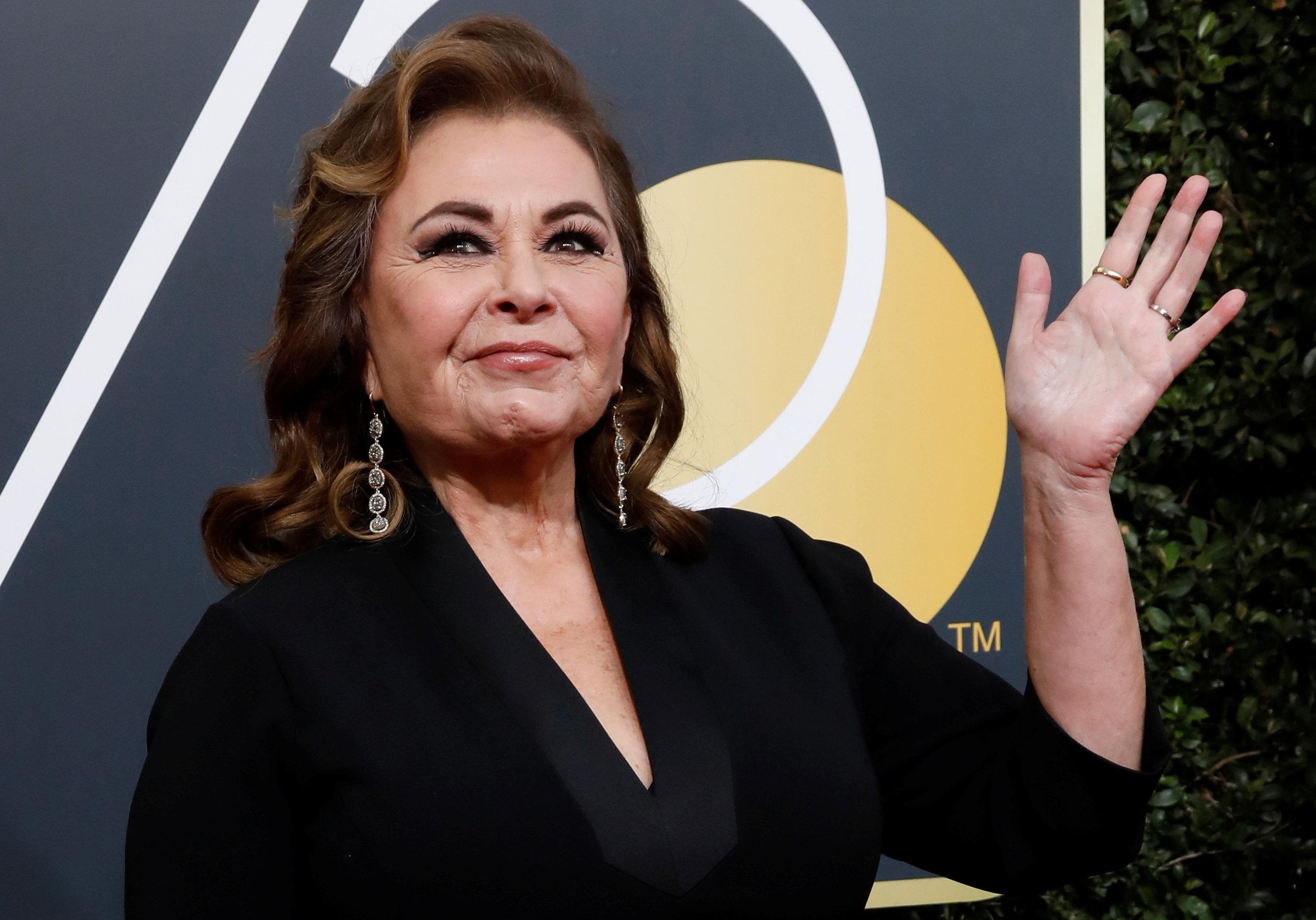 Roseanne Bar at thethe 75th Golden Globe Awards in 2018.