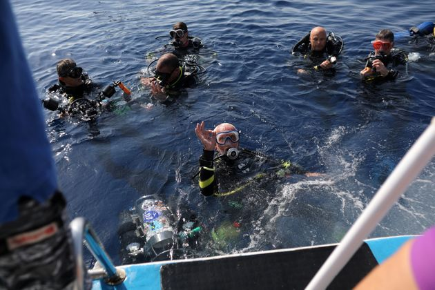 Woolley dived for 44 minutes off Cyprus on Sept. 1, breaking his own record for being the world's...