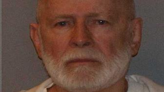 "Former mob boss and fugitive James ""Whitey"" Bulger, who was arrested in Santa Monica, California on June 22, 2011 along with his longtime girlfriend Catherine Greig, is seen in a booking mug photo released to Reuters on August 1, 2011.   Bulger fled Boston in late 1994 after receiving a tip from a corrupt FBI agent that federal charges were pending. Greig joined him a short time later and has been charged with harboring Bulger as a fugitive.   REUTERS/U.S. Marshals Service/U.S. Department of Justice/Handout   (UNITED STATES - Tags: CRIME LAW HEADSHOT) FOR EDITORIAL USE ONLY. NOT FOR SALE FOR MARKETING OR ADVERTISING CAMPAIGNS. THIS IMAGE HAS BEEN SUPPLIED BY A THIRD PARTY. IT IS DISTRIBUTED, EXACTLY AS RECEIVED BY REUTERS, AS A SERVICE TO CLIENTS"