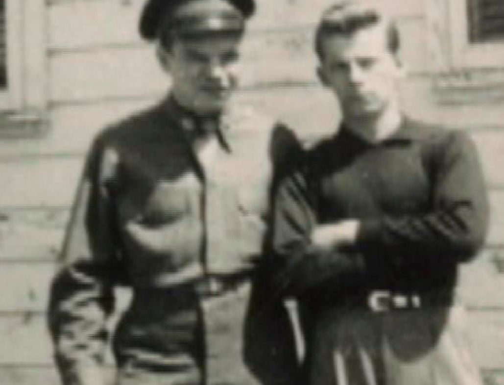 Bulger (right, with an unidentified man) in an undated photo presented as evidence by his defense team during his trial in 2013.