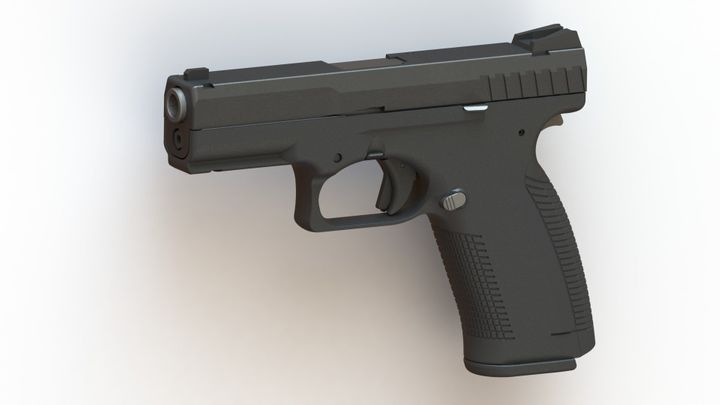 A preliminary rendering of LodeStar's 9 mm smart gun, which the company hopes to release in the next year.