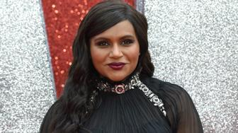 US actor Mindy Kaling poses on the carpet upon arrival to attend he European premiere of the film ' Ocean's 8' in London on June 13, 2018. (Photo by Anthony HARVEY / AFP)        (Photo credit should read ANTHONY HARVEY/AFP/Getty Images)